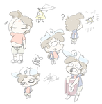 Dipper doodles by SquidPuke