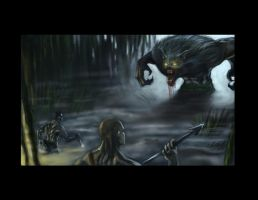 Werewolf Battle by truehorror666