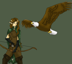 Elven Ranger and Pet