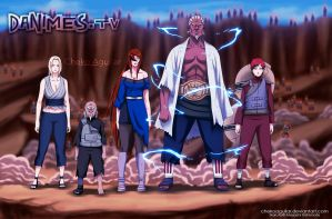 Naruto Manga 648 Kages again by ChekoAguilar