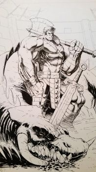 Planet Hulk inks by SaviorsSon