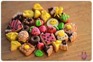 Doodle U: Assorted Clay Charms by marywinkler