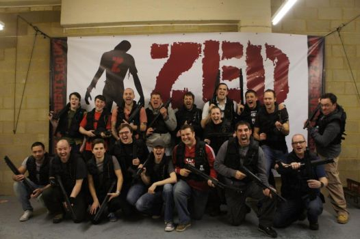 Zed Events-Zombie Mall 1st December Group Shot #1 by Wasjig