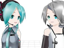 Miku and Piko talk by K-i-t-t-y-K-a-T