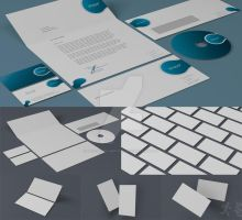 DOA Stationary and Business Card Mock up by design-on-arrival