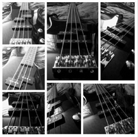 A collage of my Bass guitar by Talking-In-Whispers