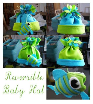 reversible baby hat by CrowsShadow