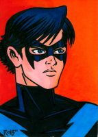 Sketchcard Nightwing by RichBernatovech