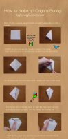 How to make an Origami Bunny by FunkySockzLover