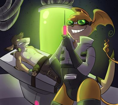 Commission: Mad Scientist by Robo-Shark
