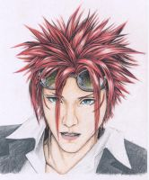 FFVII- Reno -Colored Pencil by Byohazrd13
