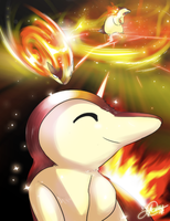 Dream big Cyndaquil by super-tuler