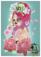 Day of the dead pastel colors by MissMisfit13