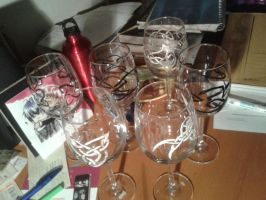 ...and a whole Bunch of knotted Wineglasses. by Nodetian