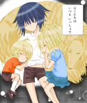 Child Ikuto, Utau and Tadase by AngelofDawn