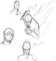 Work break The Flash sketches by ConstantM0tion