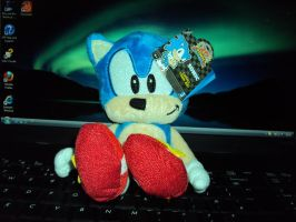 Sonic 20th Anniversary Plush by DazzyDrawingN2