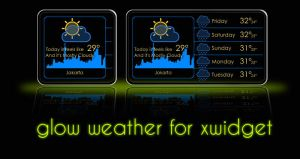 Glow Weather for XWidget by boyzonet