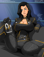 Coloring Commission - Cypher3au - Miranda Lawson by StarDragon77