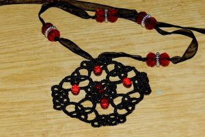 Handmade medallion ''Bloody Rain'', FOR SALE by Onatra