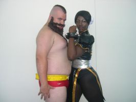 Chun Li and That Other Guy by WildFantasy