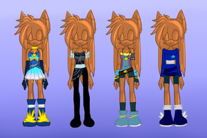 Contest Entry- Sammi Outfits by KenotheWolf