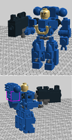 Lego Spacemarine by Mineraleater