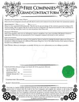 Free Companies - Grand Contract Form by ScaperDeage