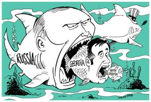 Saakashvili's adventure by Latuff2