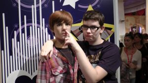 Justin Bieber and myself(madame tussauds) by Albme94