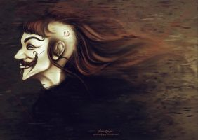What I am is a Woman in a Mask. by VarshaVijayan