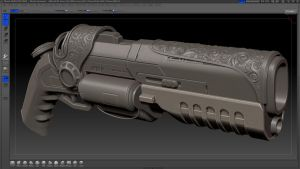 CGworkshops gunproject WIP by Kawatta
