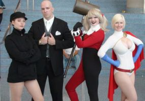 Driver, Lex Luthor, Harley Quinn, and Power Girl by trivto