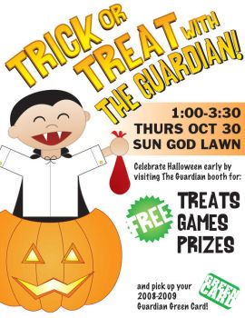 UCSD Guardian Halloween Flyer by unknowninspiration