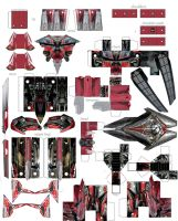 papercraft sentinel prime by minibot-gears