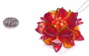 Beaded flame flower, angle 1 by wombat1138