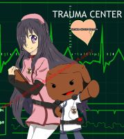 Katawa Shoujo x Trauma center fanart by I-am-Miss-Duckie