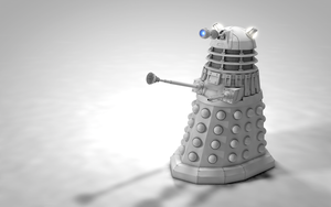 Dalek Clay Render by Exherion