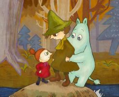 Moomin and friends by Rico-pin