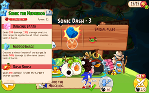 Sonic the Hedgehog in Angry Birds Epic by AngryBirdsStuff