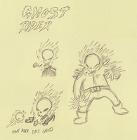 Ghost Rider sketches by sketchxj
