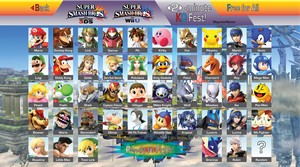 Super Smash Bros. 4 Roster (Post-E3 2014) by MagnetarMaster