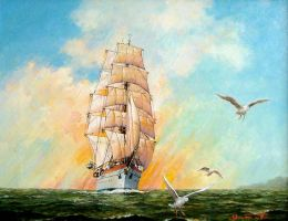 Sailing Ship -Gorch Fock- by temma22