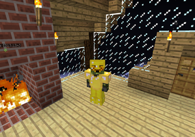 Me and my butter armor on my friends server by Decemator884