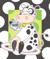 Cow driking Milk by Frog-FrogBR
