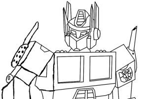G1 Prime lineart by autobotchari