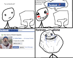 FaceBook Forever Alone by RBC-Comics