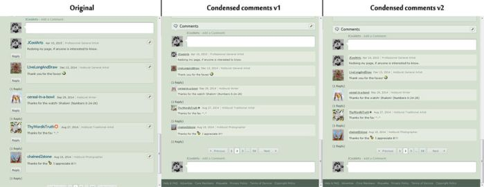 Condensed Comments V2 by JCoolArts