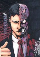 Two-Face sketch card by KidNotorious
