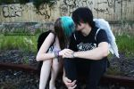 Kissing on the Train Tracks by Spannie123